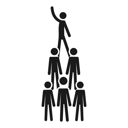 People cohesion pyramid icon. Simple illustration of people cohesion pyramid vector icon for web design isolated on white background