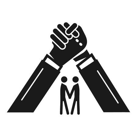 People brotherhood icon. Simple illustration of people brotherhood vector icon for web design isolated on white background