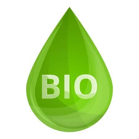 Bio fuel drop icon. Cartoon of bio fuel drop vector icon for web design isolated on white background