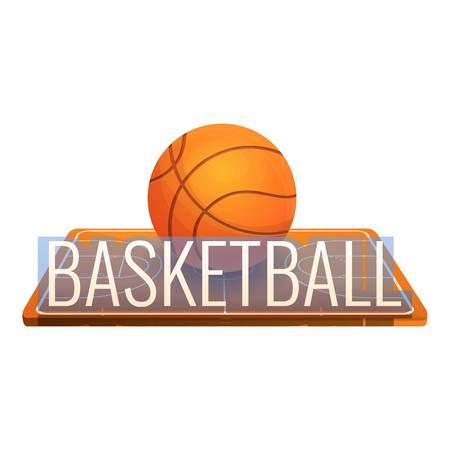 Basketball field logo. Cartoon of basketball field vector logo for web design isolated on white background Çizim