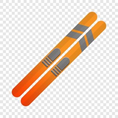 Ski icon. Cartoon of ski icon for web design for web design