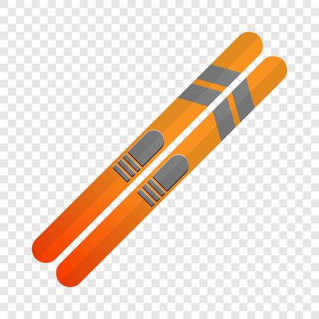Ski icon. Cartoon of ski icon for web design for web design Stock Photo - 122354380