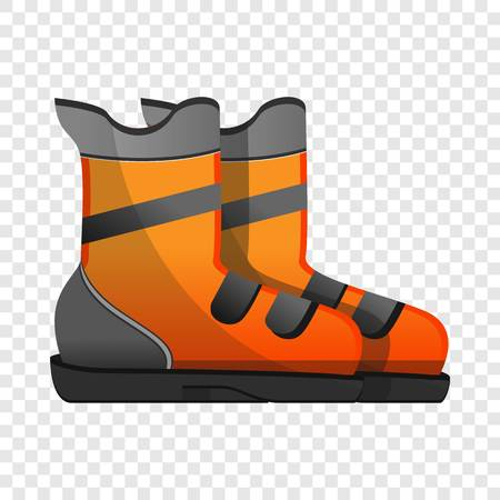 Ski boots icon. Cartoon of ski boots icon for web design for web design