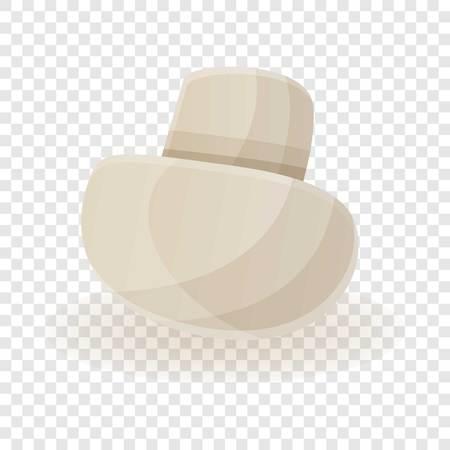 White champignon icon. Cartoon of white champignon icon for web design for web design Stock Photo