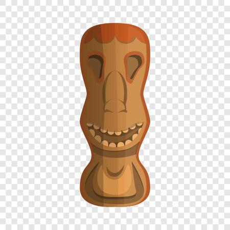 Wood tahiti idol icon. Cartoon of wood tahiti idol icon for web design for web design