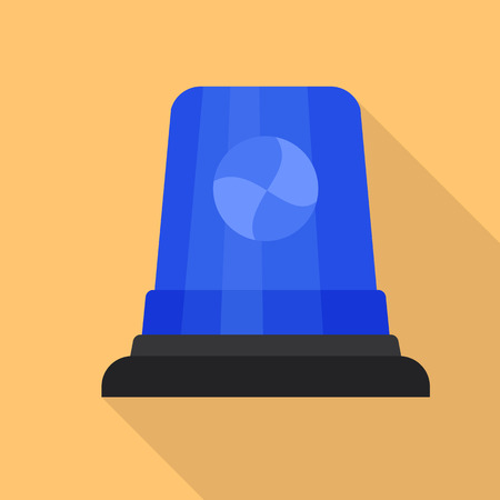 Blue flasher icon. Flat illustration of blue flasher icon for web design