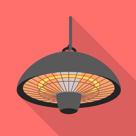 Heater lamp icon. Flat illustration of heater lamp icon for web design