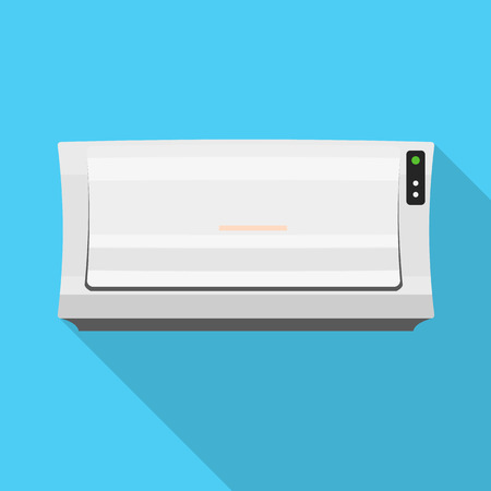 Old air conditioner icon. Flat illustration of old air conditioner icon for web design