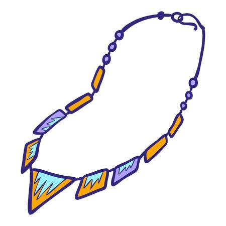 Elegant necklace icon. Hand drawn illustration of elegant necklace icon for web design