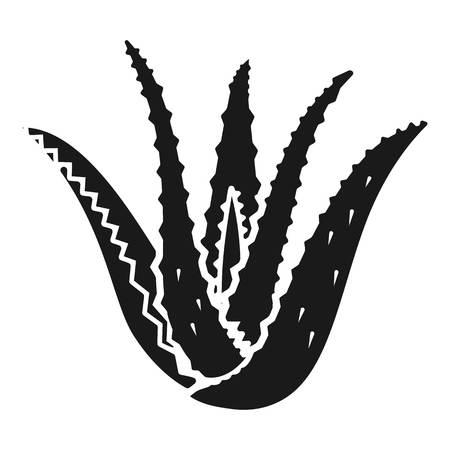 Aloe vera icon. Simple illustration of aloe vera icon for web design isolated on white background