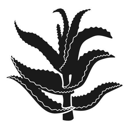 Aloe stem icon. Simple illustration of aloe stem icon for web design isolated on white background