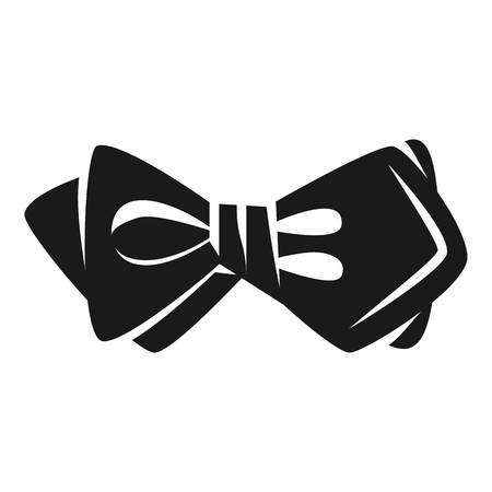 Elegant bow tie icon. Simple illustration of elegant bow tie icon for web design isolated on white background