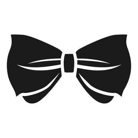 Man bow tie icon. Simple illustration of man bow tie icon for web design isolated on white background Foto de archivo
