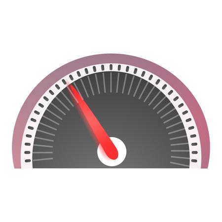 Speedometer icon. Cartoon of speedometer icon for web design isolated on white background Stock Photo