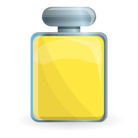 Yellow woman perfume icon. Cartoon of yellow woman perfume icon for web design isolated on white background
