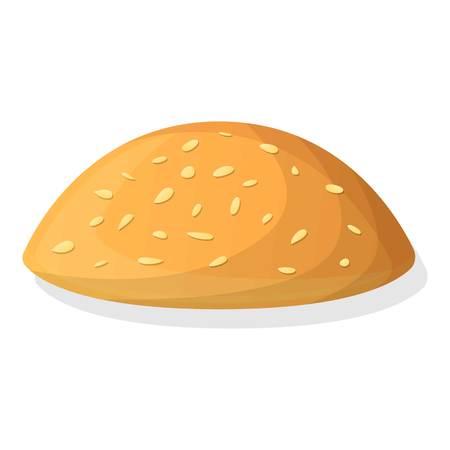 Fresh top bun icon. Cartoon of fresh top bun icon for web design isolated on white background