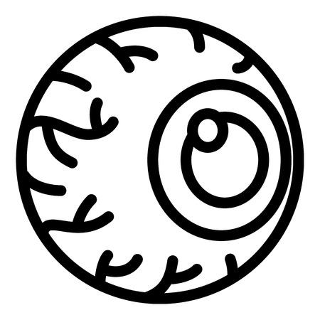 Irritated eye icon. Outline irritated eye icon for web design isolated on white background