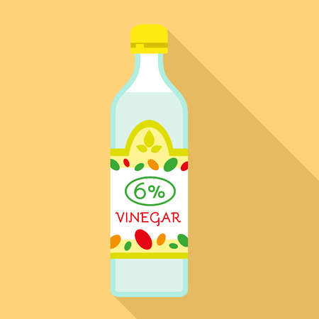 6 percent vinegar icon. Flat illustration of 6 percent vinegar icon for web design Archivio Fotografico - 122465709