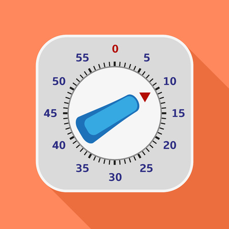 Kitchen timer icon. Flat illustration of kitchen timer icon for web design