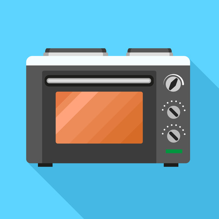 Microwave icon. Flat illustration of microwave icon for web design