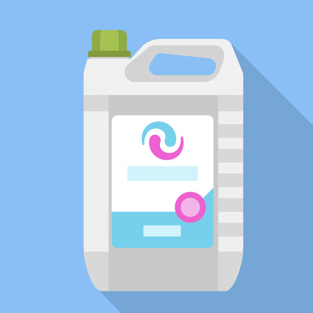Wash canister liquid icon. Flat illustration of wash canister liquid icon for web design Stock Photo