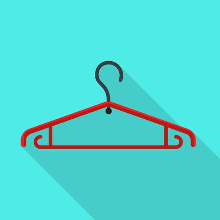 Plastic cloth hanger icon. Flat illustration of plastic cloth hanger icon for web design