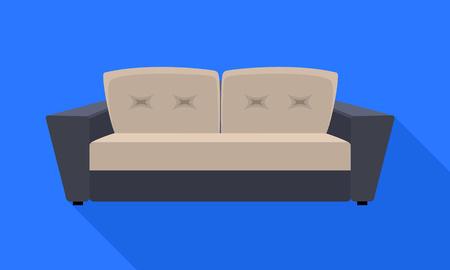 Modern sofa icon. Flat illustration of modern sofa icon for web design