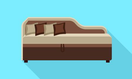 Corner modern sofa icon. Flat illustration of corner modern sofa icon for web design