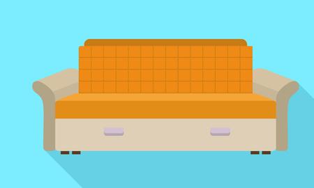 Abstract modern sofa icon. Flat illustration of abstract modern sofa icon for web design Stock Photo