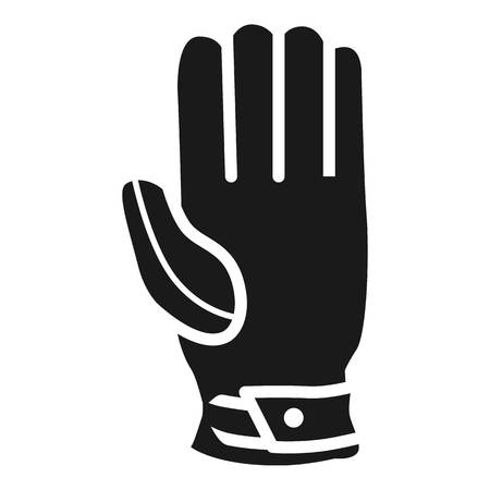 Cricket glove icon. Simple illustration of cricket glove icon for web design isolated on white background