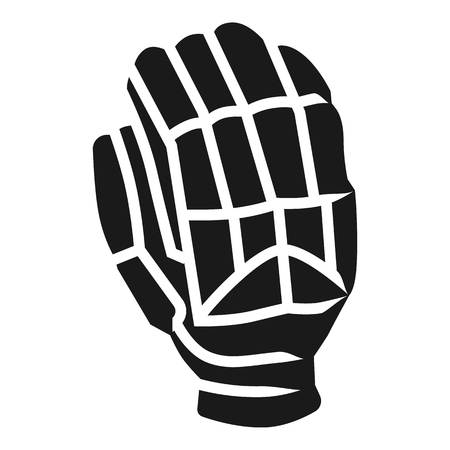 Right cricket glove icon. Simple illustration of right cricket glove icon for web design isolated on white background