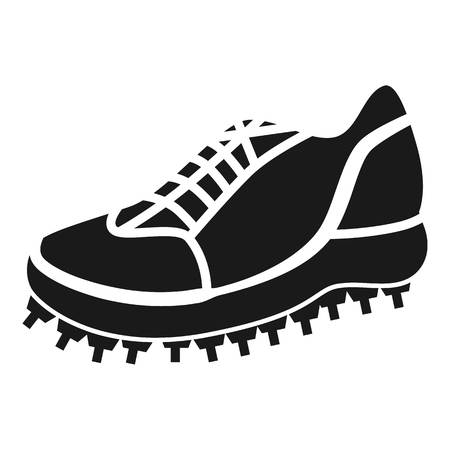 Cricket sneaker icon. Simple illustration of cricket sneaker icon for web design isolated on white background