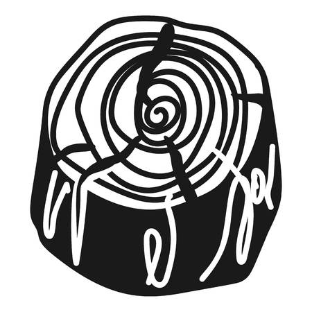 Cracked stump icon. Simple illustration of cracked stump icon for web design isolated on white background