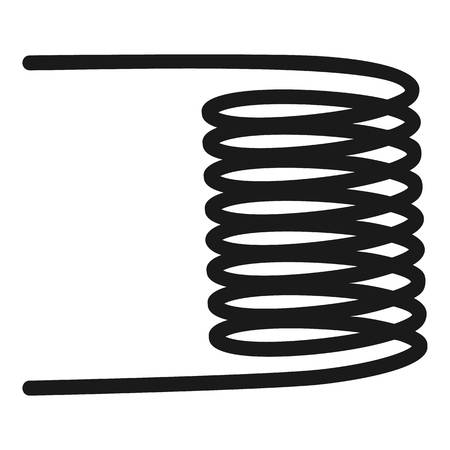 Electric spiral icon. Simple illustration of electric spiral icon for web design isolated on white background