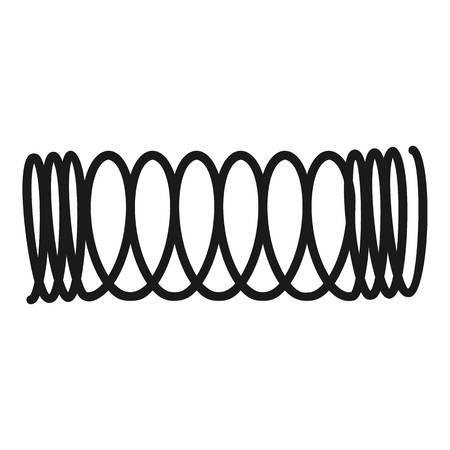 Tungsten spiral icon. Simple illustration of tungsten spiral icon for web design isolated on white background Фото со стока