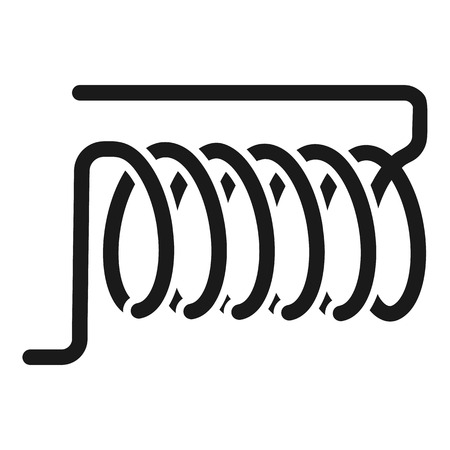 Induction coil icon. Simple illustration of induction coil icon for web design isolated on white background