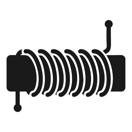 Inductance coil icon. Simple illustration of inductance coil icon for web design isolated on white background