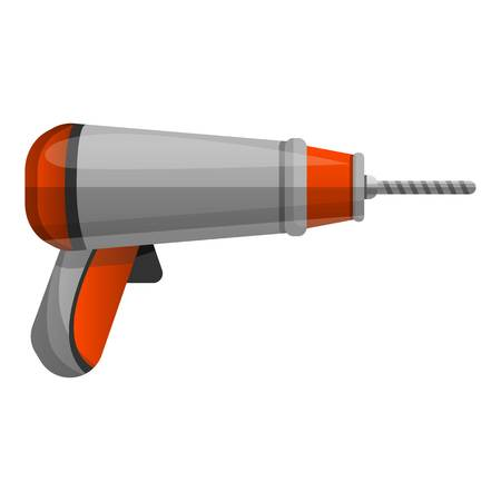 Modern screwdriver icon. Cartoon of modern screwdriver icon for web design isolated on white background