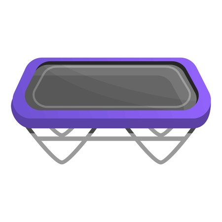 Square trampoline icon. Cartoon of square trampoline icon for web design isolated on white background
