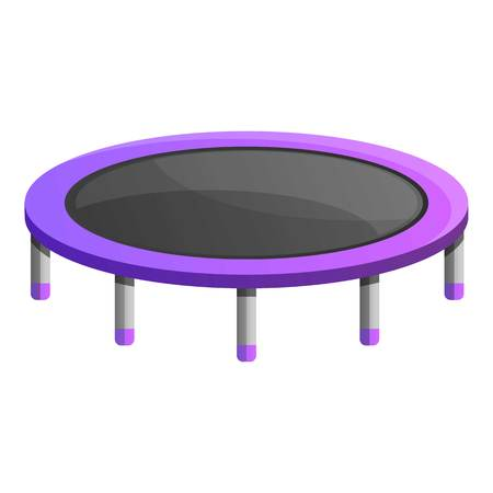 House trampoline icon. Cartoon of house trampoline icon for web design isolated on white background