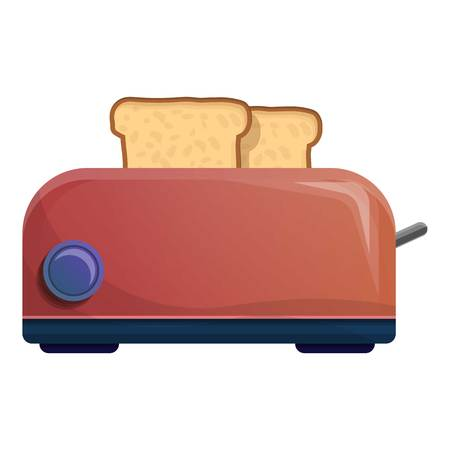 Bread toaster icon. Cartoon of bread toaster icon for web design isolated on white background