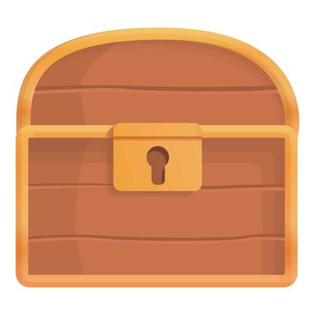 Closed dower chest icon. Cartoon of closed dower chest icon for web design isolated on white background