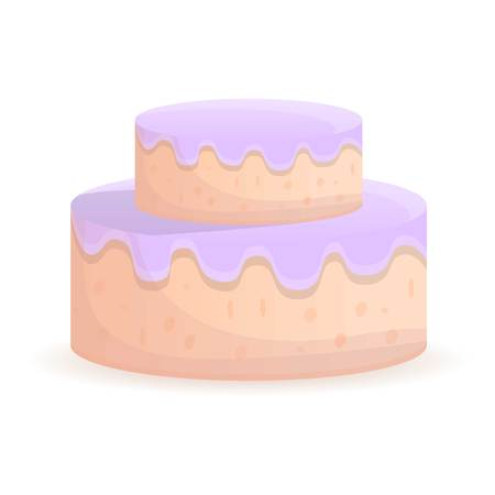 Double deck cake icon. Cartoon of double deck cake icon for web design isolated on white background