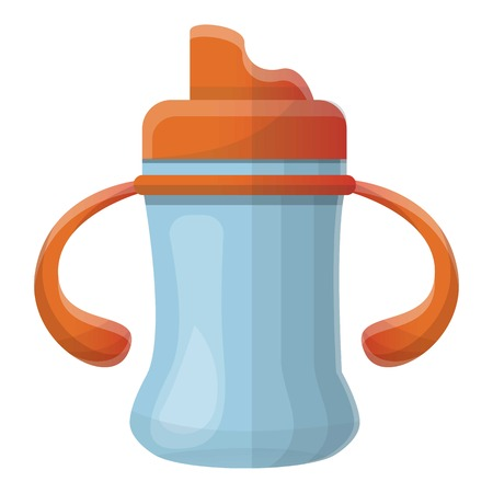Baby sippy cup icon. Cartoon of baby sippy cup icon for web design isolated on white background Zdjęcie Seryjne