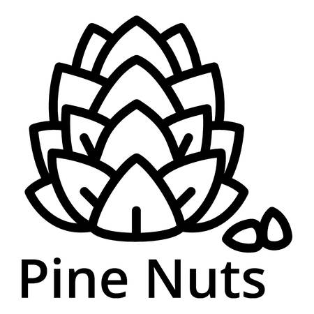 Pine nuts icon. Outline pine nuts vector icon for web design isolated on white background