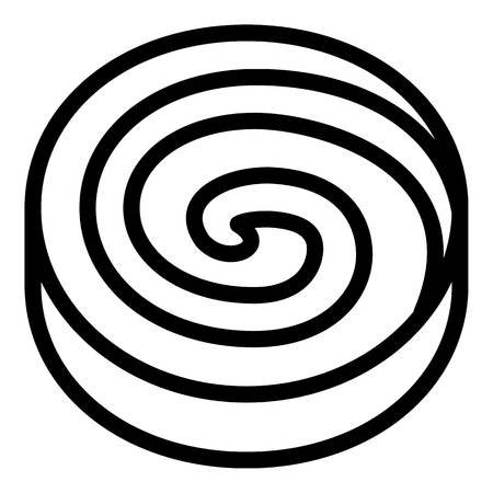 Spiral cream biscuit icon. Outline spiral cream biscuit icon for web design isolated on white background 스톡 콘텐츠