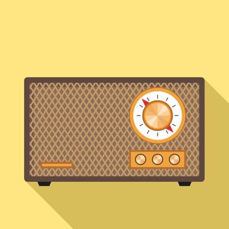 Retro radio icon. Flat illustration of retro radio icon for web design Stock Photo
