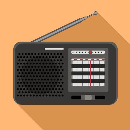 Am radio icon. Flat illustration of am radio icon for web design