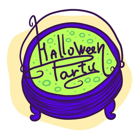 Halloween party green potion icon. Hand drawn illustration of Halloween party green potion icon for web design Imagens