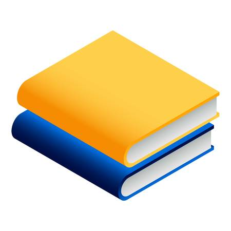 Book stack icon. Isometric of book stack icon for web design isolated on white background Zdjęcie Seryjne - 122537111